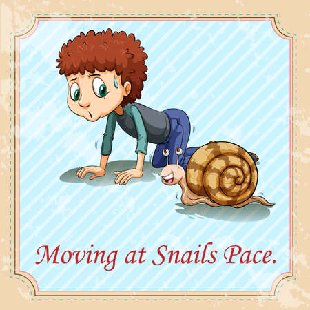 pace: Moving at snails pace illustration Illustration