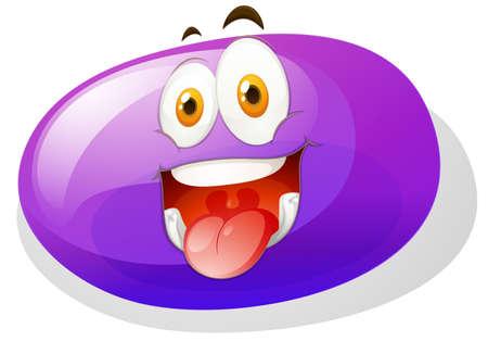 slime: Purple slime with funny face illustration Illustration