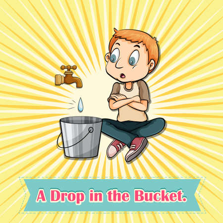 drop in: Drop in the bucket illustration