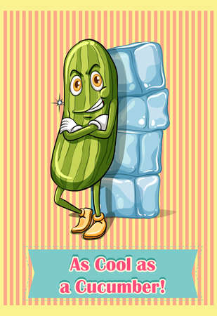 illustration cool: As cool as a cucumber illustration