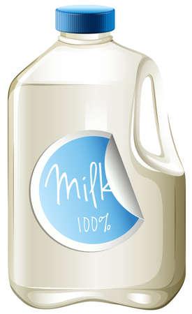 carton de leche: Leche en una ilustración de cartón