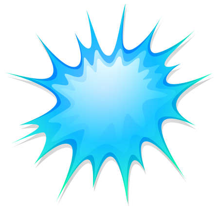 a stain: Blue explosion on white illustration