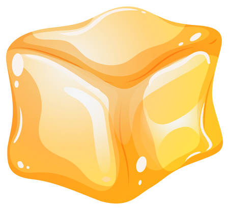 square image: Yellow cube on white background illustration