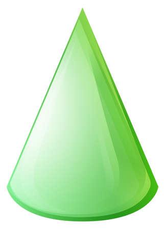 cone: Green color cone shape illustration