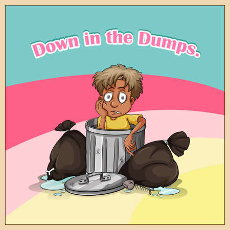 dumps: Down in the dumps illustration