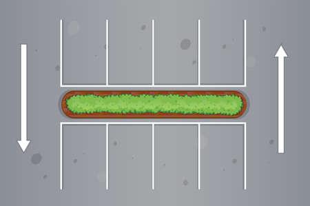 駐車場図の平面図