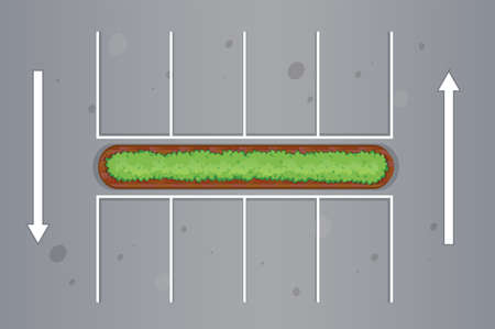 Top view of car park illustration