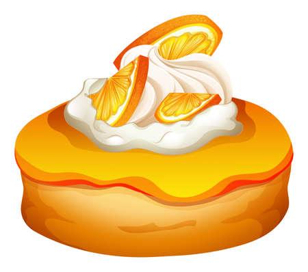 topping: Doughnut with orange jam topping illustration