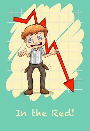 idioms: Idiom in the red illustration Illustration
