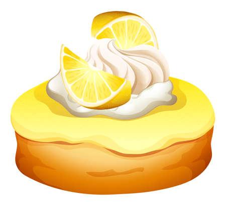 deep fried: Donut with lemon flavor illustration