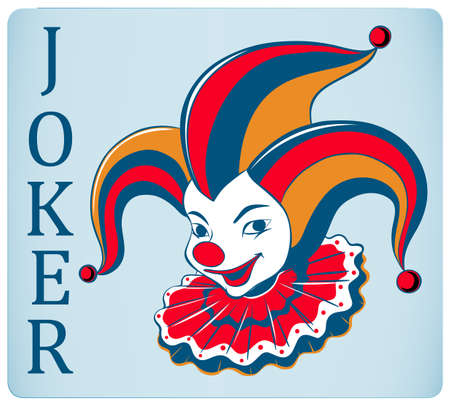 nariz roja: Nariz roja tarjeta joker ilustración