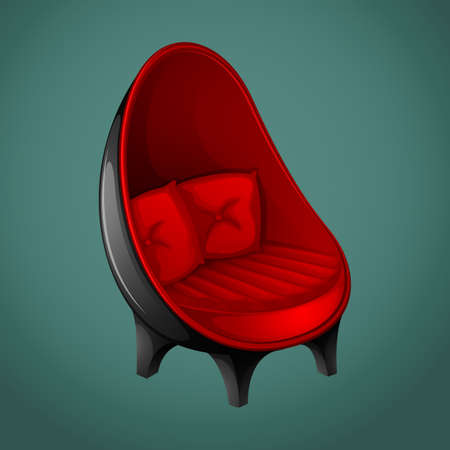 modern chair: Black and red modern chair illustration Illustration