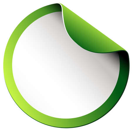 Adesivo bordo verde su sfondo bianco illustrazione Archivio Fotografico - 44054833