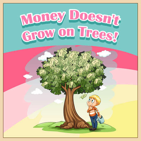 funny pictures: Money doesnt grow on trees illustration