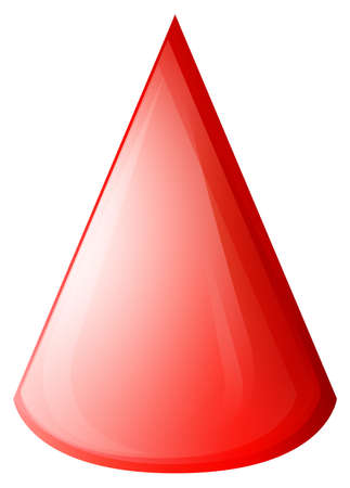 topology: Red cone on white illustration
