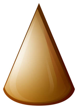 brown: Brown cone on white illustration