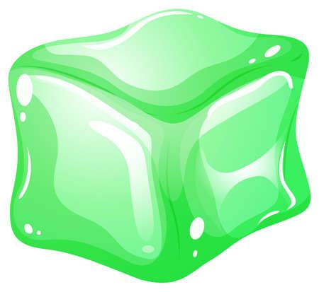 gree: Gree ice cube on white illustration Illustration