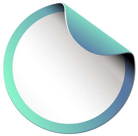 picture frame: Empty round sticker on white illustration