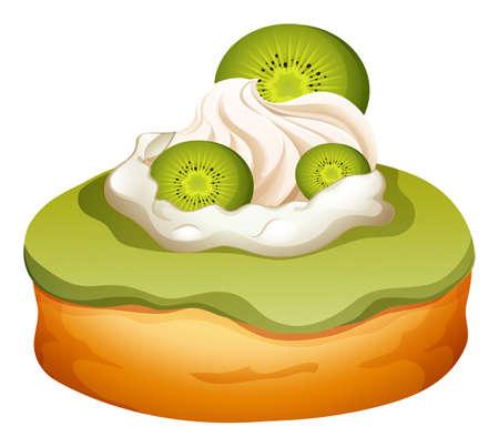 flavor: Doughnut with kiwi flavor illustration