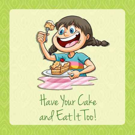 figurative: Have your cake and eat it illustration