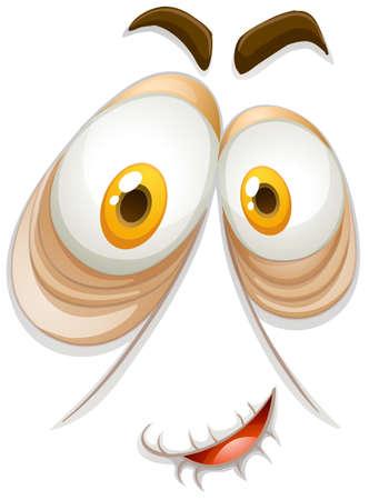 persona feliz: Persona vieja con cara feliz ilustración Vectores