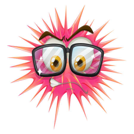 thorny: Thorny ball wearing eyeglasses illustration Illustration