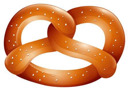 junkfood: Pretzel with salt on top illustration