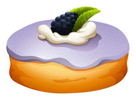 teat: Doughnut with blackberry flovor illustration