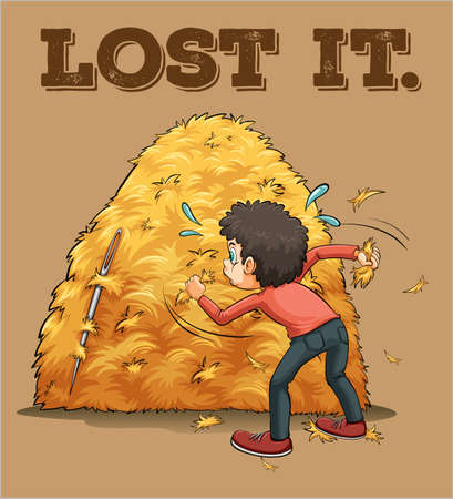 lost: English saying lost it illustration