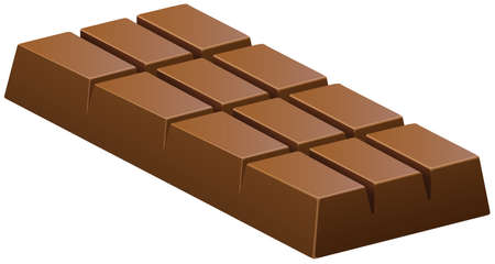 barra de chocolate: Barra de chocolate con leche en la ilustraci�n blanca Vectores