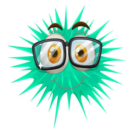 thorny: Thorny ball wearing glasses illustration Illustration