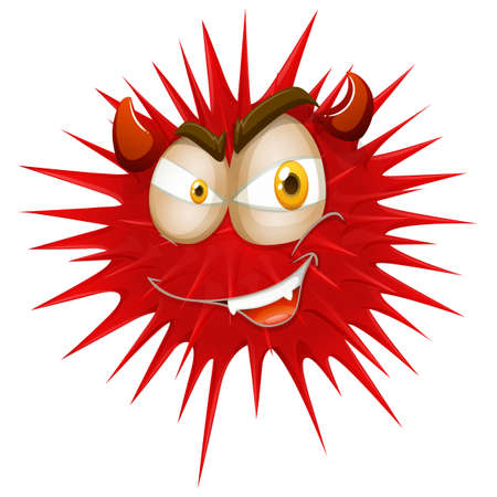 thorny: Red thorny with devil face illustration