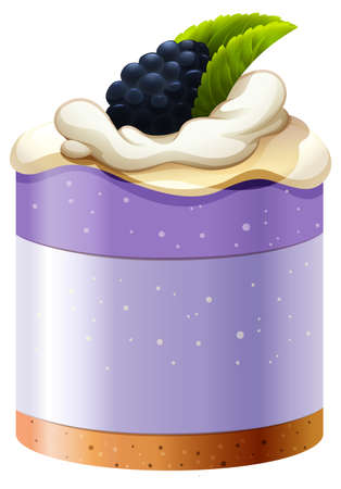 crust: Blackberry cake with crust base illustration