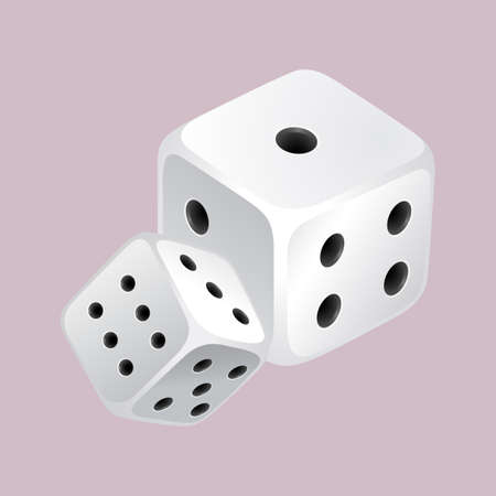possibility: Two dices with black dots illustration