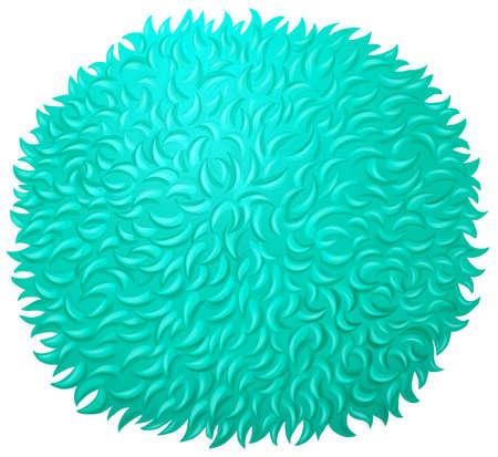 fluffy: Blue fluffy ball on white illustration Illustration