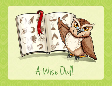 saying: Old saying a wise owl illustration