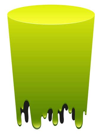 melt: Green color melting down illustration Illustration