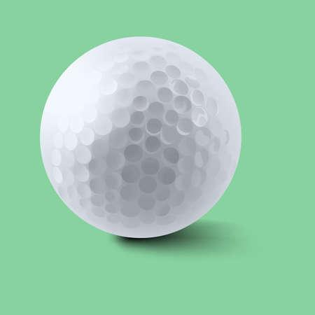 background green: Golf ball on green background illustration