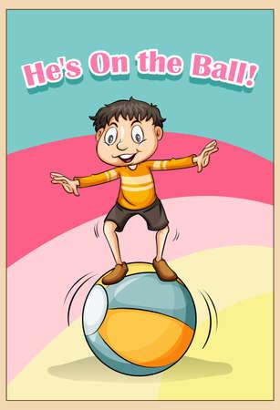 figurative: Idiom he on the ball illustration