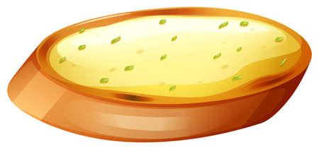 garlic bread: Garlic bread with cheese illustration