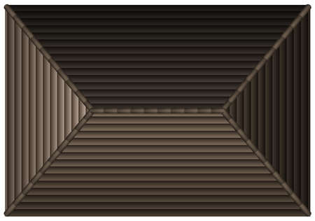 roof tiles: Rooftop of a single house illustration Illustration