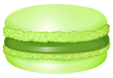 macaron: Macaron mit Sahne im Inneren Illustration Illustration