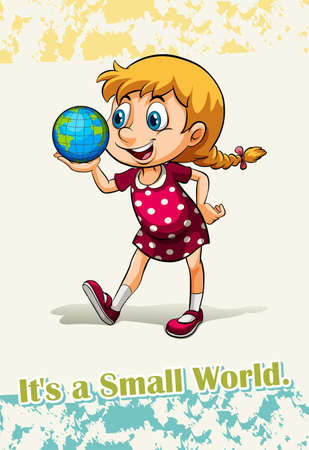 idiom: Idiom it is a small world illustration Illustration
