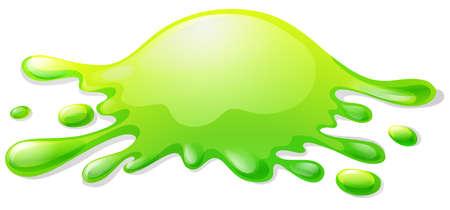 slime: Green slime on white illustration