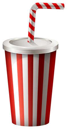 soft drink: Cup of soft drink illustration