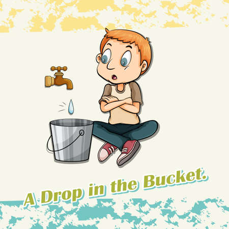 figurative: Drop in the bucket illustration