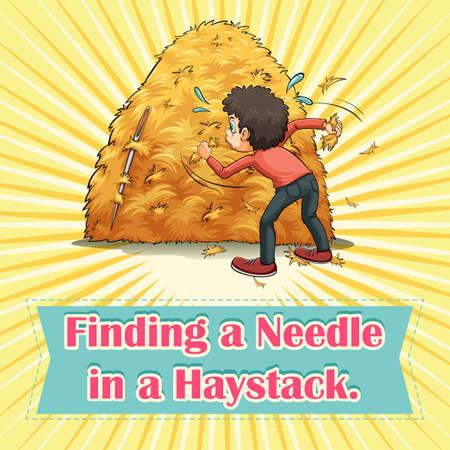 finding: Encontrar una aguja en un pajar ilustraci�n