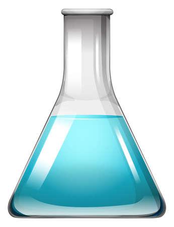 liquid: Blue liquid in container illustration