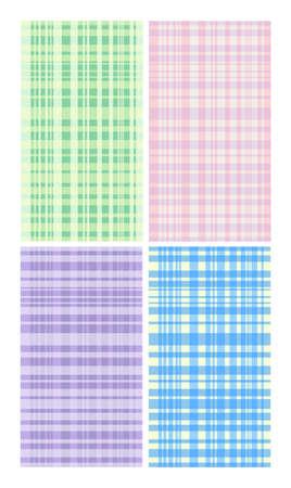 mats: Four pastel color mats illustration
