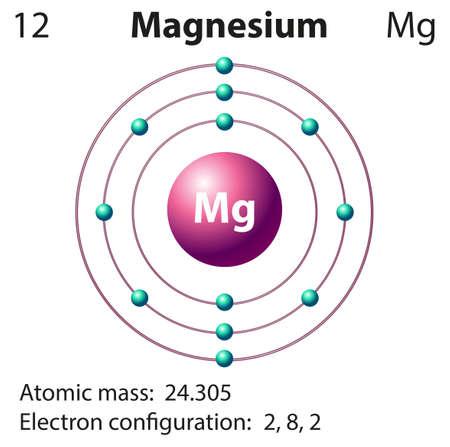 magnesium: Diagram representation of the element magnesium illustration